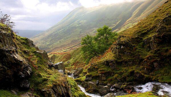 Cautley Crag seen from Cautley Spout, Howgill Fells near Sedbergh, Yorkshire Dales National Park, Cumbria, UK - Sputnik International
