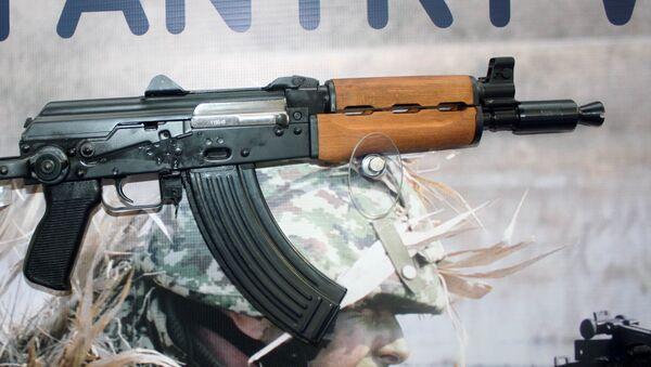 Zastava M92 semi automatic rifle on display at Partner 2011 military fair. - Sputnik International