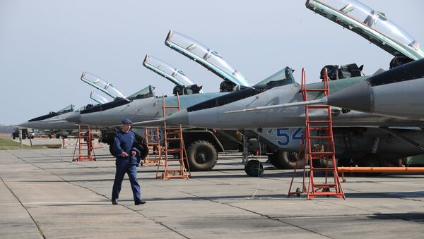 MiG-29 planes in the Southern Military District. File photo - Sputnik International