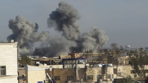 The US-led coalition airstrike in Ramadi, the capital of Iraq's Anbar province, 70 miles (115 kilometers) west of Baghdad, Iraq. - Sputnik International