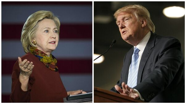 Hillary Clinton and Donald Trump - Sputnik International