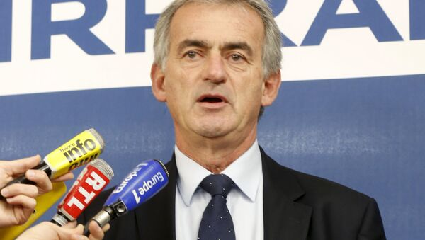 Airfrance Chief Executive Frederic Gagey speaks during a news conference in Paris, France December 20, 2015. - Sputnik International