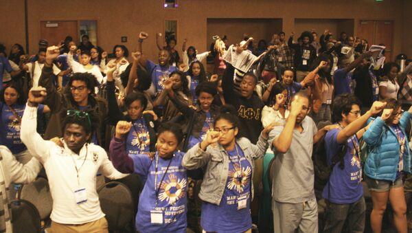 Afrikan Black Coalition members at the University of California-Santa Barbara - Sputnik International