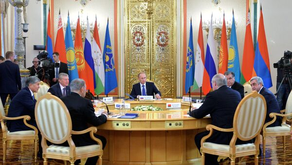 Russian President Vladimir Putin participates in CSTO and Supreme Eurasian Economic Council summits in Moscow - Sputnik International