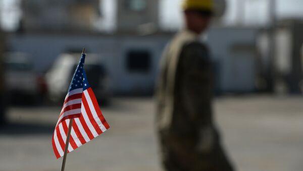 US flag is pictured in Bagram Air Base. (File) - Sputnik International