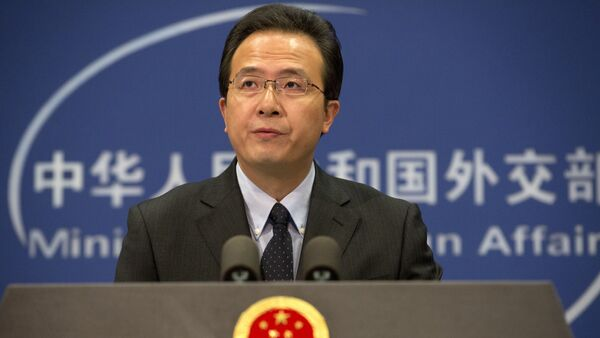 Chinese foreign ministry spokesman Hong Lei speaks during a daily briefing at the Ministry of Foreign Affairs office in Beijing, China. (File) - Sputnik International
