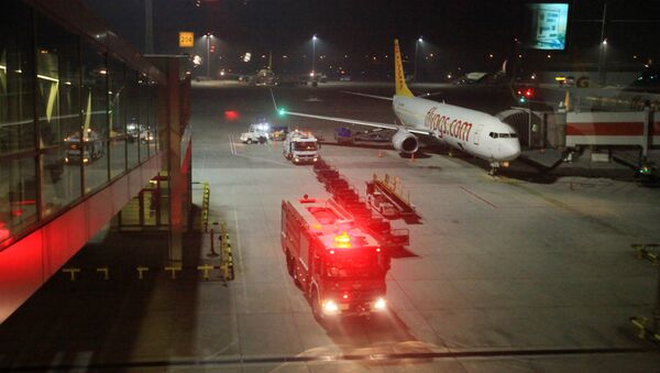 A fire truck is seen at Sabiha Gokcen Airport - Sputnik International