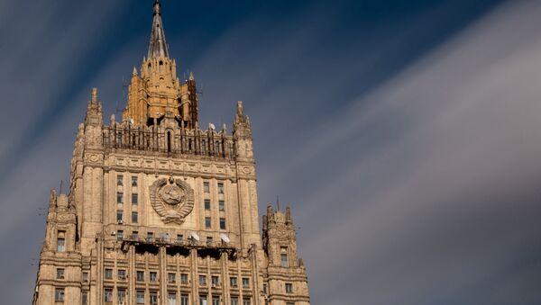 Building of the Russian Ministry of Foreign Affairs on Moscow's Smolenskaya-Sennaya Square - Sputnik International