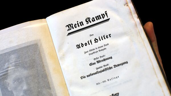 A copy of Adolf Hitler's book Mein Kampf (My Struggle) from 1940 is pictured in Berlin, Germany, in this picture taken December 16, 2015 - Sputnik International