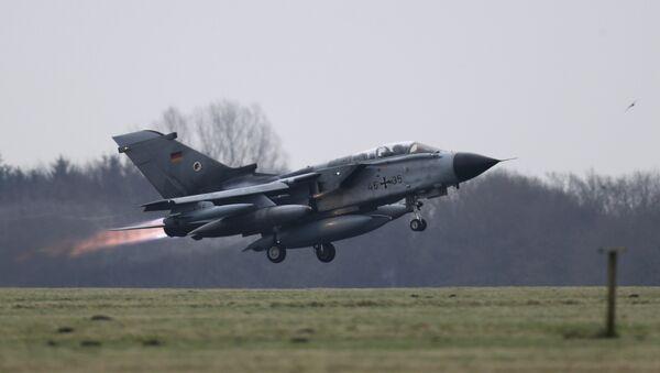A German air force Tornado jet takes off from the German army Bundeswehr airbase in Jagel, northern Germany December 10, 2015 - Sputnik International