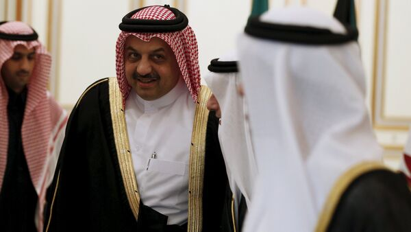 Qatar's Foreign Minister Khalid bin Mohammad Al-Attiyah attends a meeting for Gulf states Foreign Ministers in Riyadh, December 7, 2015 - Sputnik International