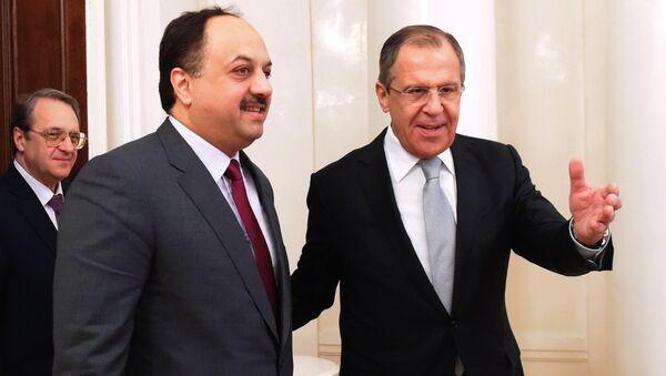 Foreign Minister Sergei Lavrov meets with Qatarian countyerpart - Sputnik International