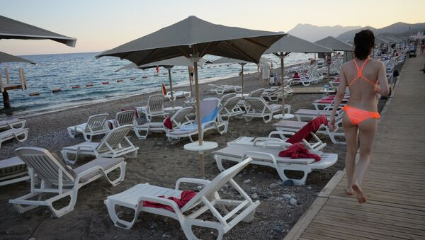 Russian tourists in Antalya - Sputnik International