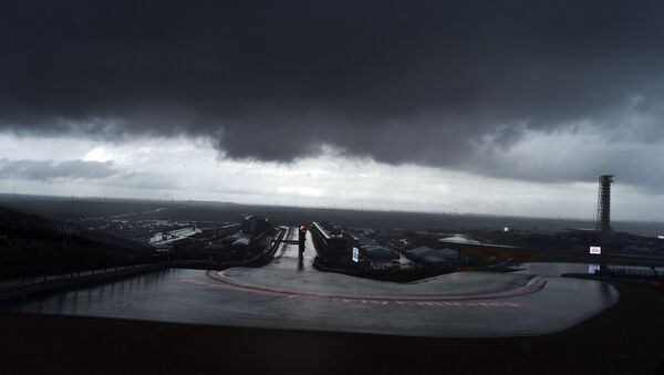 Storm clouds hover over the Circuit of The Americas in Austin, Texas - Sputnik International