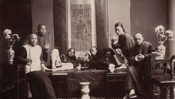 Opium smokers 1880s - Sputnik International