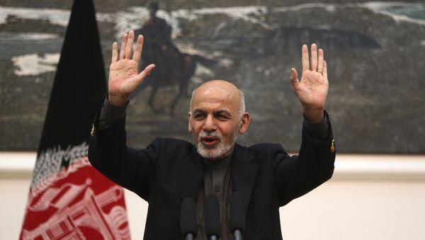In this Monday, Dec. 14, 2015 file photo, Afghan President Ashraf Ghani speaks during a press conference in Kabul, Afghanistan.  - Sputnik International