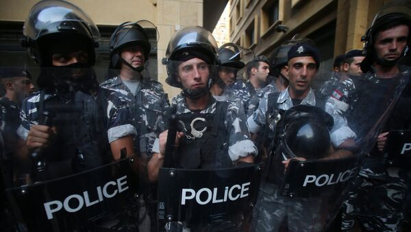 Lebanese riot police - Sputnik International
