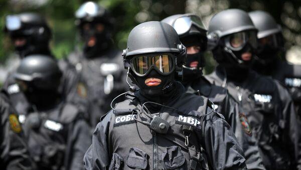 A special anti-terror police unit participate in an anti-terror drill in Bulgarian capital Sofia - Sputnik International