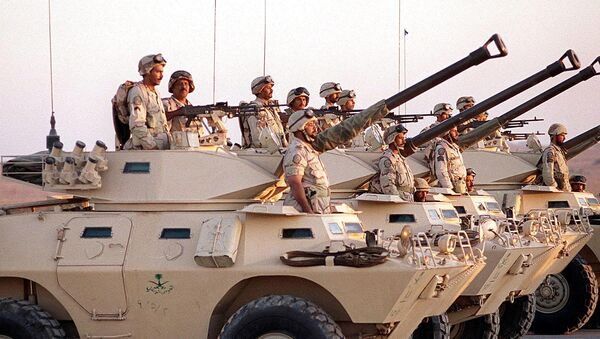 Saudi armoured vehicles - Sputnik International