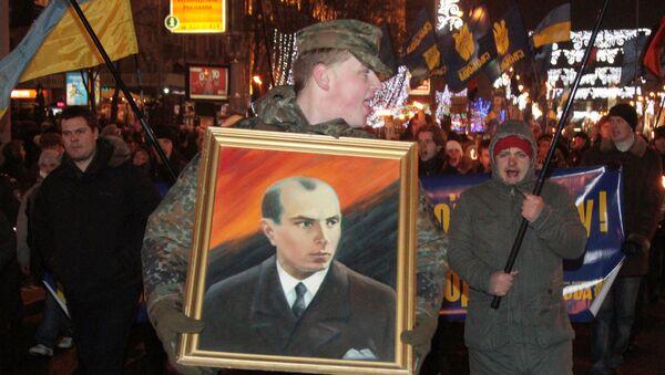 Nationalists hold torchlight procession to commemorate birth of Stepan Bandera. File photo - Sputnik International