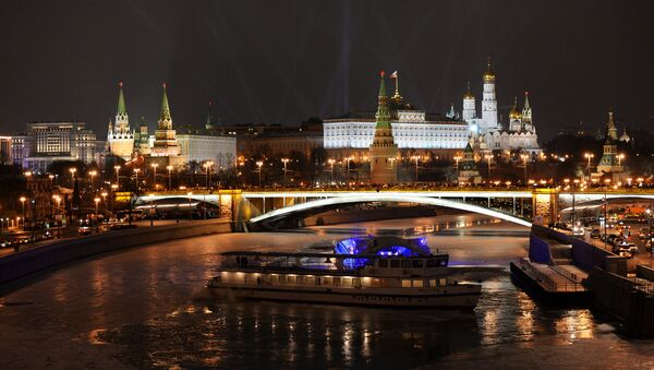 A view of the Moscow Kremlin on the New Year's Eve - Sputnik International