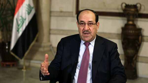 Iraq's Vice President and former Prime Minister Nouri al-Maliki, speaks during an interview with The Associated Press in Baghdad, Iraq, Monday, Feb. 2, 2015 - Sputnik International