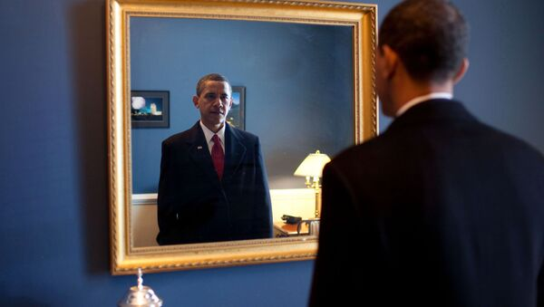 Jan. 20, 2009. President-elect Barack Obama was about to walk out to take the oath of office. Backstage at the U.S. Capitol, he took one last look at his appearance in the mirror - Sputnik International