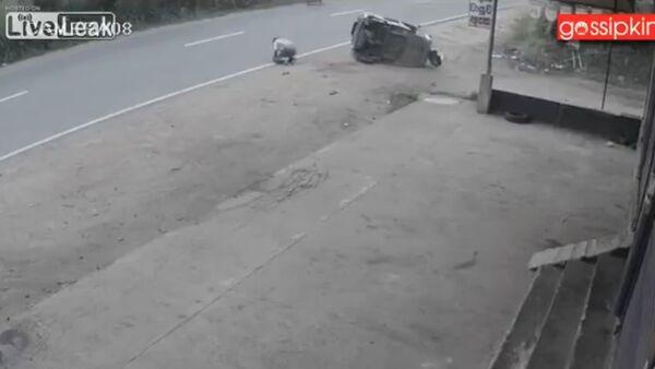 Dog causes rickshaw accident - Sputnik International