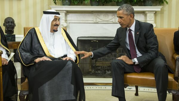 File photo, President Barack Obama, right, meets with King Salman of Saudi Arabia in the Oval Office of the White House in Washington - Sputnik International