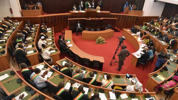 Second normal plenary session of the Parliament at the National Assembly in Abidjan, Cote d'Ivoire. - Sputnik International
