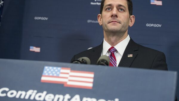 Speaker of the House Paul Ryan, Republican of Wisconsin, speaks during a press conference at the US Capitol in Washington, DC, January 6, 2016. - Sputnik International