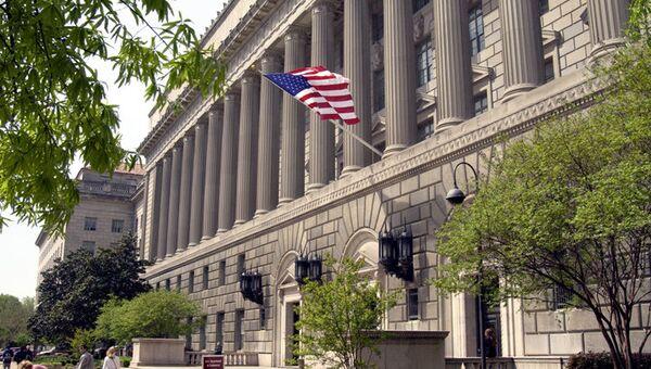 Main entrance US Commerce Department Building - Sputnik International