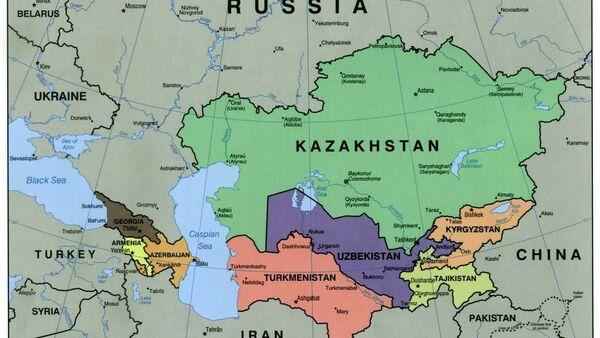 Caucasus central asia political map 2000 - Sputnik International