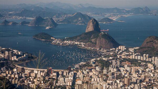 A view of Rio de Janeiro from Christ the Redeemer, Brazil - Sputnik International