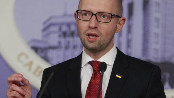 Ukrainian Prime Minister Arseniy Yatsenyuk. - Sputnik International