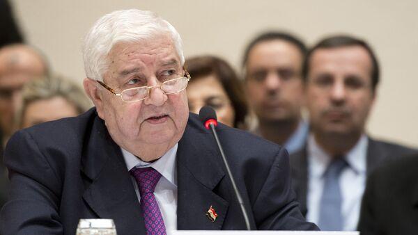 Syrian Foreign Minister Walid Muallem - Sputnik International