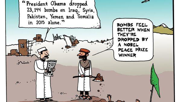 Bombs Feel Better When They're Dropped by a Nobel Peace Prize Winner - Sputnik International