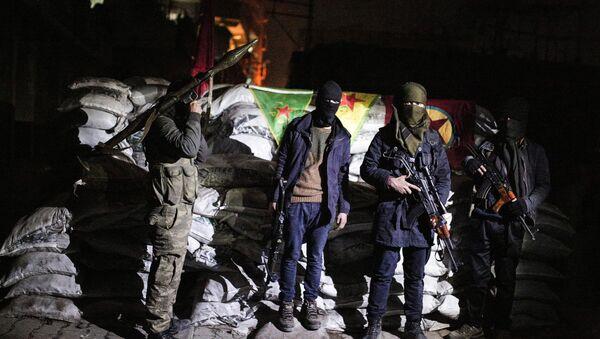 Militants of the Kurdistan Workers' Party, or PKK, stand at a barricade in Sirnak, Turkey. (File) - Sputnik International