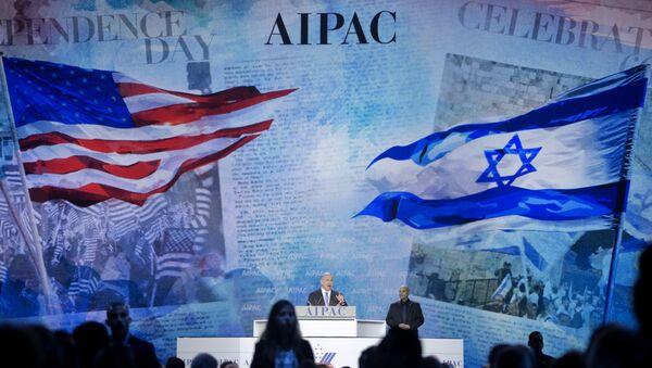 File photo, Israeli Prime Minister Benjamin Netanyahu speaks at the American Israel Public Affairs Committee (AIPAC) Policy Conference in Washington - Sputnik International