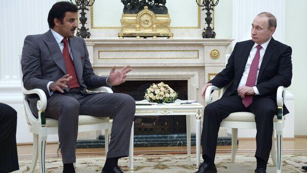 Russia plays a decisive role when it comes to achieving global stability, Emir of Qatar Tamim bin Hamad Al Thani said - Sputnik International