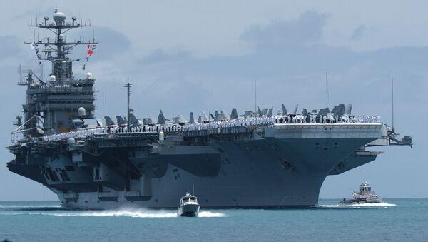 The USS John C. Stennis arrives in Pear Harbor, Hawaii, Tuesday, June29, 2004 - Sputnik International