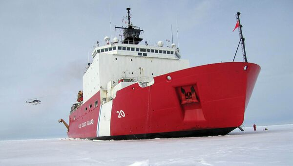 US Coast Guard handout file image received 05 August, 2007, shows the 420-foot (128m) Coast Guard cutter Healy the largest and most technically advanced icebreaker in the US - Sputnik International
