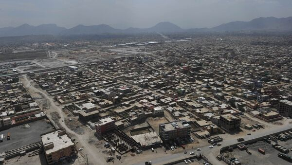 The skyline of Kabul is pictured during a helicopter flight from Kabul to Bagram Air Base for a prison handover ceremony on September 10, 2012 - Sputnik International