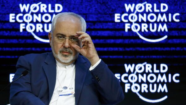 Javad Zarif Iranian Foreign Minister attends the session Next Steps for Iran and the World during the Annual Meeting 2016 of the World Economic Forum (WEF) in Davos, Switzerland January 20, 2016 - Sputnik International