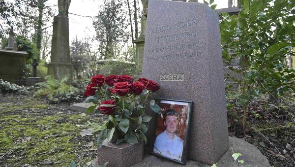 The grave of murdered ex-KGB agent Alexander Litvinenko is seen at Highgate Cemetery in London, Britain - Sputnik International