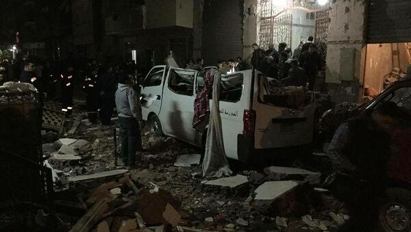 A bomb blast outside of a Cairo apartment building killed six people. - Sputnik International