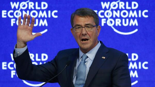 US Secretary of Defence Ashton Carter attends the annual meeting of the World Economic Forum (WEF) in Davos, Switzerland January 22, 2016. - Sputnik International