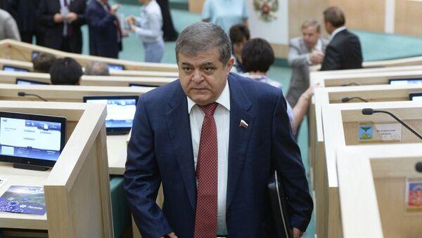 Vladimir Dzhabarov, first deputy chairman of the Federation Council Committee for International Affairs, at a meeting of the Federation Council - Sputnik International
