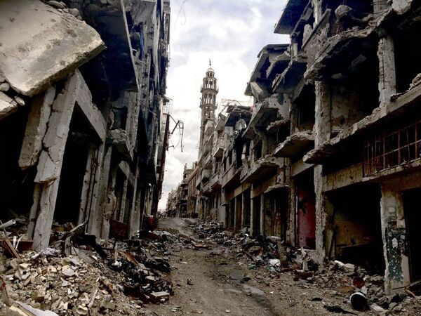 The Remains of War: Images of the Ravaged Syrian City of Homs - Sputnik International