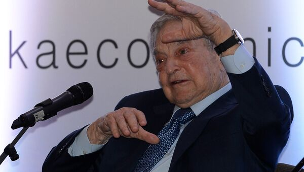 Hungarian-born US magnate and philanthropist George Soros attends an economic forum in Colombo on January 7, 2016 - Sputnik International